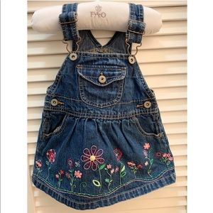 Oshkosh jean dress overall